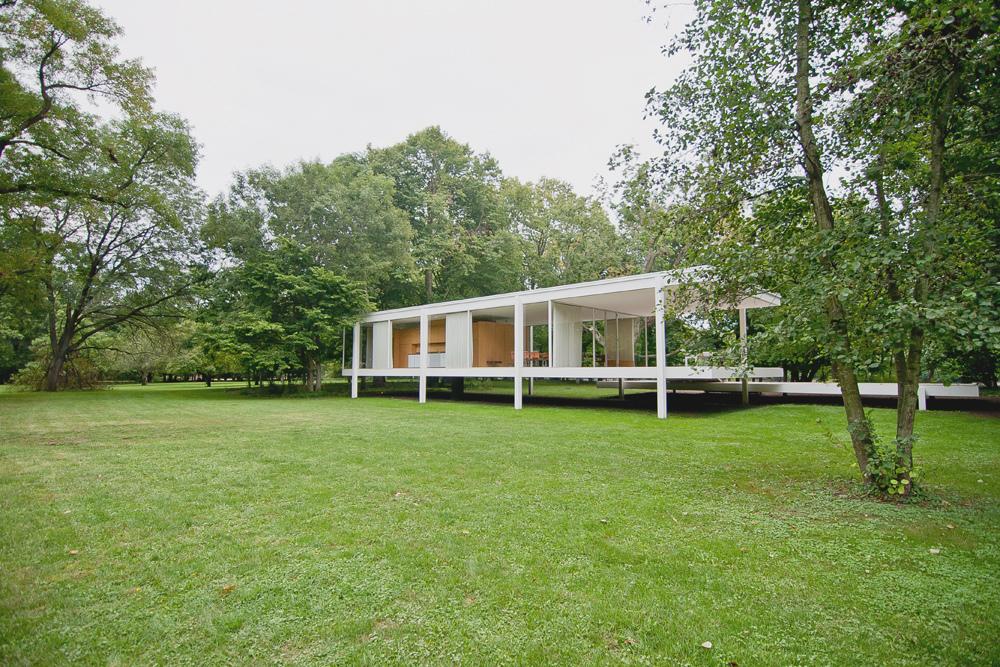 Casa farnsworth for Casa minimalista de mies van der rohe
