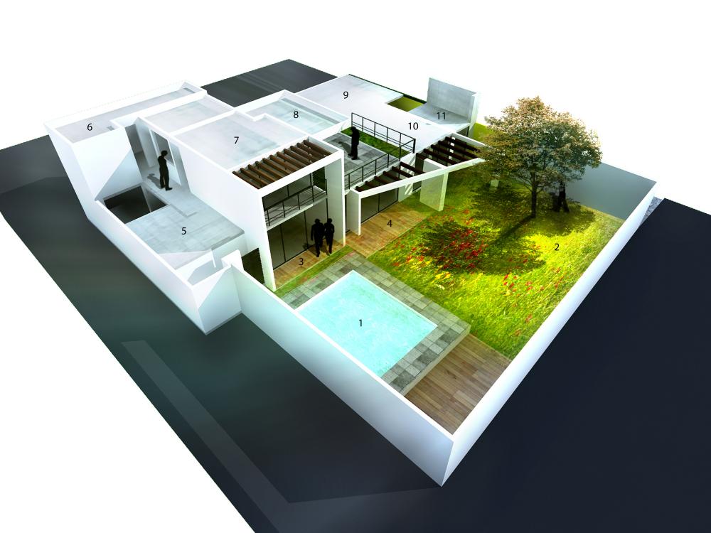 Galer a casa rc esc arquitectos 1 for Casa minimalista maqueta