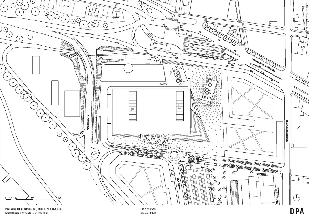 galer a palacio de deportes de rouen dominique perrault architecture 25. Black Bedroom Furniture Sets. Home Design Ideas